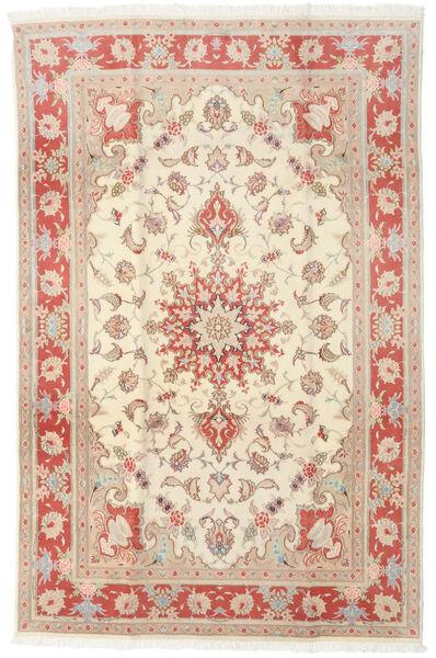 Tabriz 50 Raj Tappeto 190X293 Orientale Fatto A Mano Beige/Marrone Chiaro (Lana/Seta, Persia/Iran)
