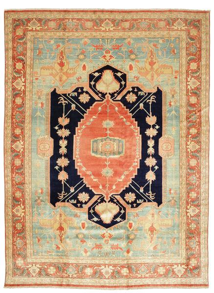 Heriz Tappeto 405X540 Orientale Fatto A Mano Beige Scuro/Verde Chiaro Grandi (Lana, Persia/Iran)