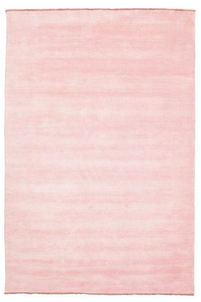 Handloom Fringes - Rosa Tappeto 200X300 Moderno Rosa Chiaro (Lana, India)