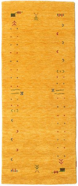 Gabbeh Loom Frame - Giallo Tappeto 80X200 Moderno Alfombra Pasillo Arancione (Lana, India)