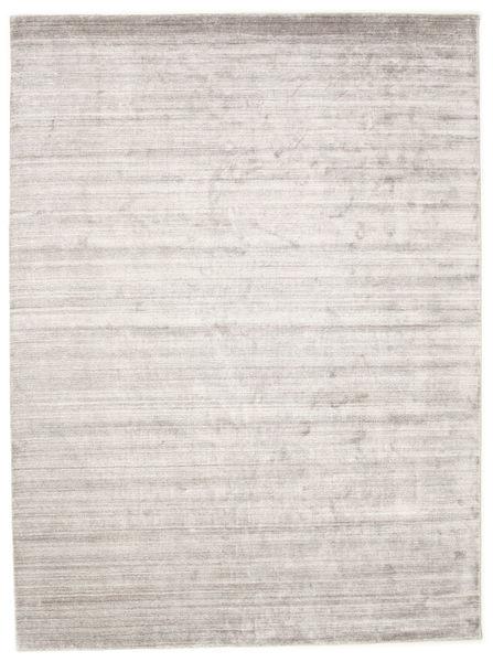 Bambù Di Seta Loom - Warm Grigio Tappeto 300X400 Moderno Grigio Chiaro/Bianco/Creme Grandi ( India)