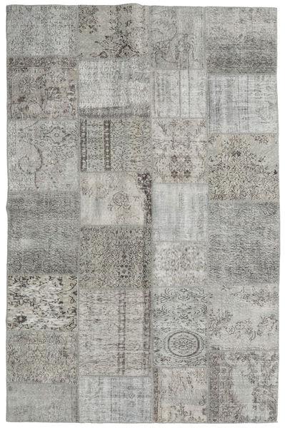 Patchwork Tappeto 195X301 Moderno Fatto A Mano Grigio Chiaro (Lana, Turchia)