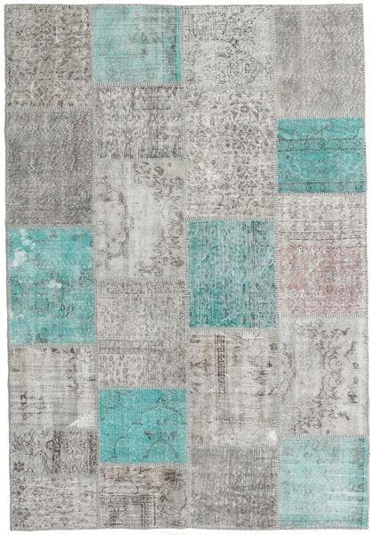 Patchwork Tappeto 158X231 Moderno Fatto A Mano Grigio Chiaro (Lana, Turchia)