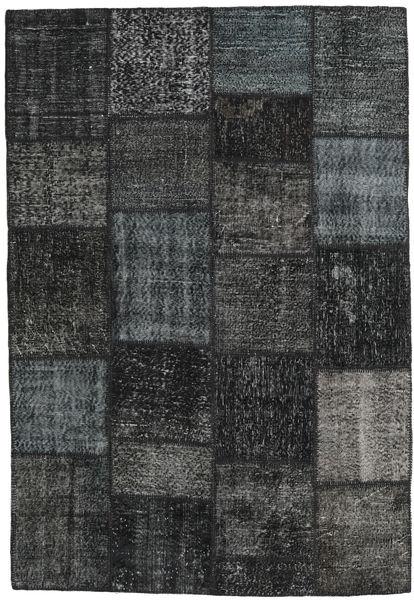 Patchwork Tappeto 159X232 Moderno Fatto A Mano Grigio Scuro (Lana, Turchia)