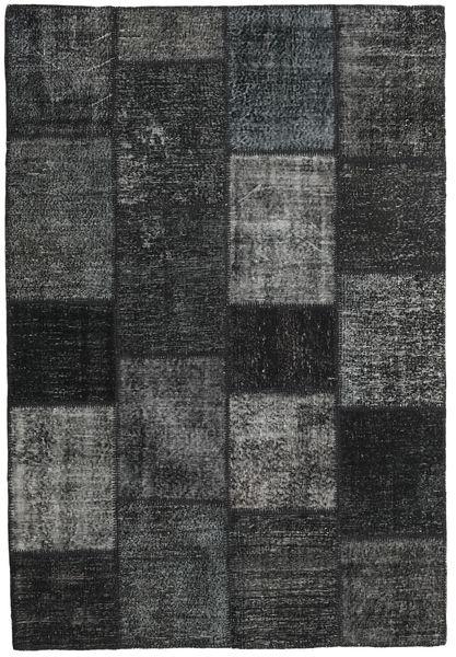 Patchwork Tappeto 157X231 Moderno Fatto A Mano Grigio Scuro/Nero (Lana, Turchia)