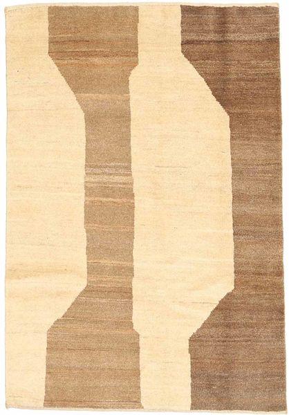 Gabbeh Persia Tappeto 98X140 Moderno Fatto A Mano Beige/Beige Scuro (Lana, Persia/Iran)