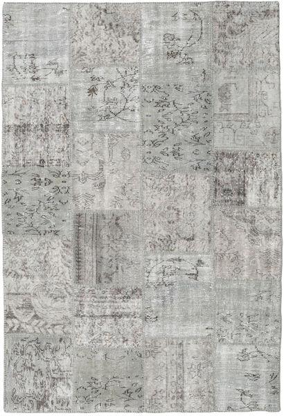 Patchwork Tappeto 157X233 Moderno Fatto A Mano Grigio Chiaro (Lana, Turchia)