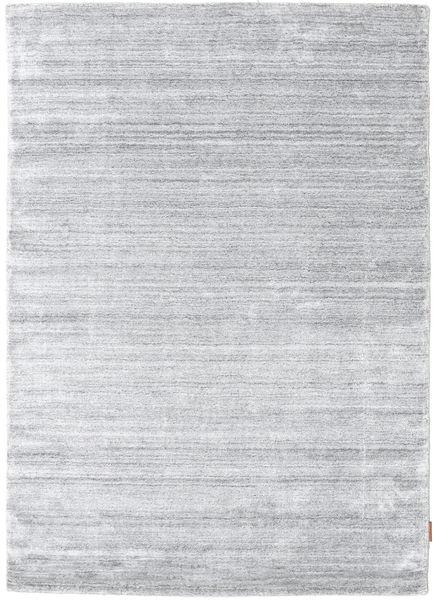 Bambù Di Seta Loom - Grigio Tappeto 140X200 Moderno Grigio Chiaro/Bianco/Creme ( India)