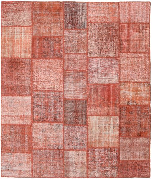 Patchwork Tappeto 251X298 Moderno Fatto A Mano Rosso Scuro/Rosa Chiaro Grandi (Lana, Turchia)