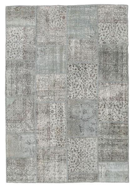 Patchwork Tappeto 160X232 Moderno Fatto A Mano Grigio Chiaro/Grigio Scuro (Lana, Turchia)