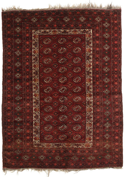 Afghan Khal Mohammadi Tappeto 137X181 Orientale Fatto A Mano Rosso Scuro/Marrone Scuro (Lana, Afghanistan)
