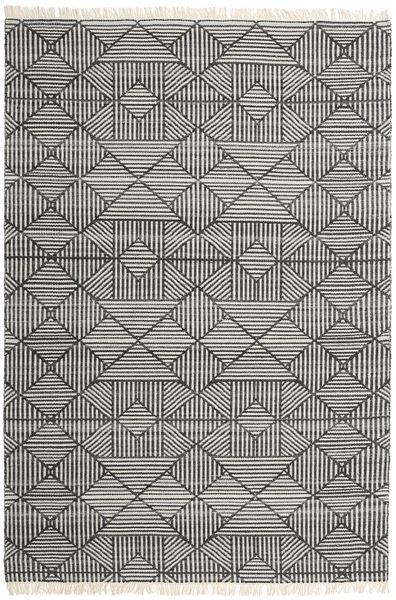 Mauri Tappeto 200X300 Moderno Tessuto A Mano Grigio Scuro/Grigio Chiaro (Lana, India)