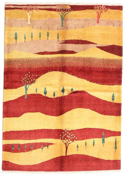 Gabbeh Kashkooli Tappeto 147X207 Moderno Fatto A Mano Ruggine/Rosso/Marrone Chiaro (Lana, Persia/Iran)