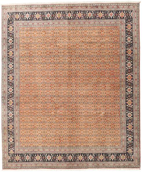 Tabriz 40 Raj Tappeto 245X297 Orientale Fatto A Mano Marrone Scuro/Rosso Scuro (Lana/Seta, Persia/Iran)
