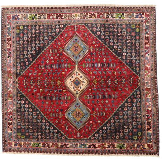Yalameh Tappeto 192X200 Orientale Fatto A Mano Quadrato Rosso Scuro/Marrone Scuro (Lana, Persia/Iran)