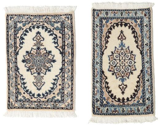 Nain Tappeto 40X60 Orientale Fatto A Mano Grigio Scuro/Beige/Grigio Chiaro (Lana, Persia/Iran)