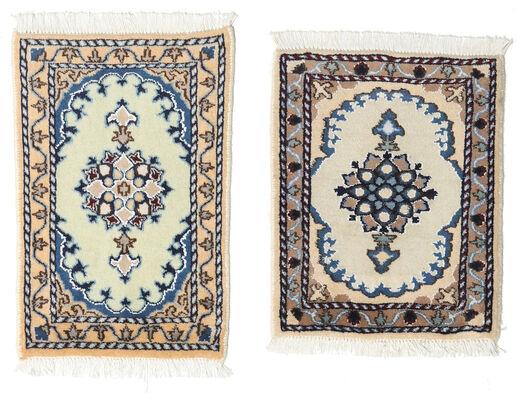 Nain Tappeto 40X60 Orientale Fatto A Mano Grigio Chiaro/Grigio Scuro (Lana, Persia/Iran)