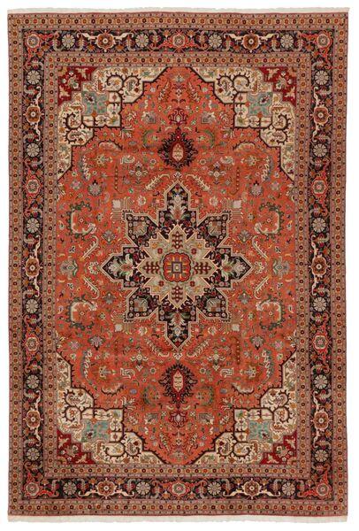 Tabriz 50 Raj Tappeto 203X304 Orientale Fatto A Mano Marrone Scuro/Rosso (Lana/Seta, Persia/Iran)