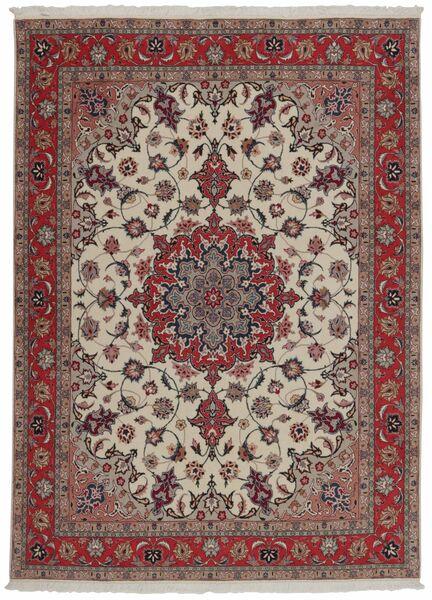 Tabriz 50 Raj Tappeto 151X204 Orientale Tessuto A Mano Rosso Scuro/Grigio Chiaro (Lana/Seta, Persia/Iran)