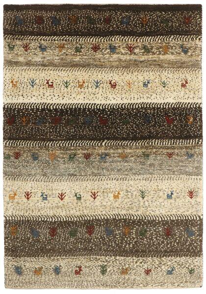Gabbeh Persia Tappeto 126X185 Moderno Tessuto A Mano Marrone Scuro/Beige (Lana, Persia/Iran)