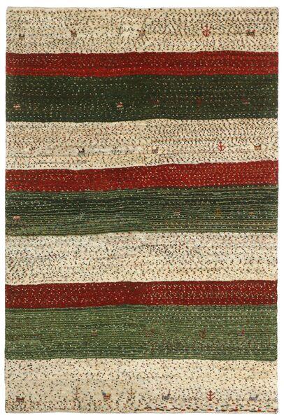 Gabbeh Persia Tappeto 120X180 Moderno Fatto A Mano Marrone Scuro/Beige (Lana, Persia/Iran)