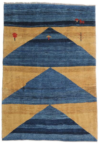 Gabbeh Rustic Tappeto 193X282 Moderno Fatto A Mano Blu Scuro/Blu/Marrone Chiaro (Lana, Persia/Iran)