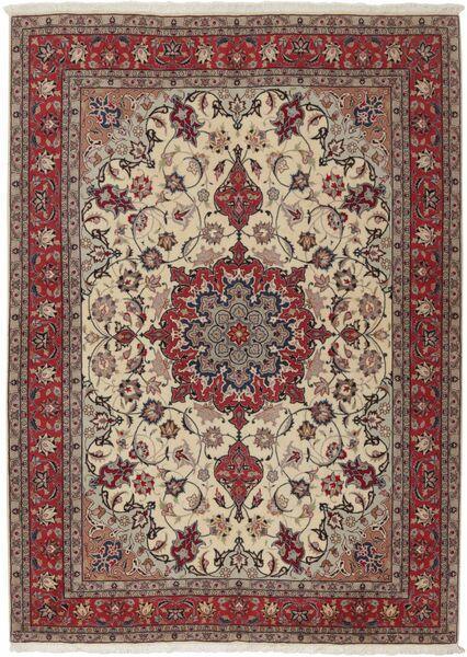 Tabriz 50 Raj Tappeto 155X211 Orientale Fatto A Mano Grigio Chiaro/Rosso Scuro (Lana/Seta, Persia/Iran)