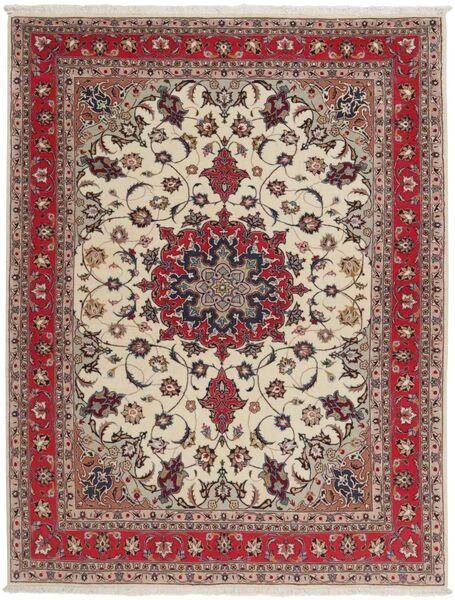 Tabriz 50 Raj Tappeto 151X203 Orientale Fatto A Mano Grigio Chiaro/Rosso Scuro (Lana/Seta, Persia/Iran)