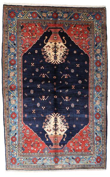 Gabbeh Kashkooli Tappeto 155X246 Moderno Fatto A Mano Porpora Scuro/Nero (Lana, Persia/Iran)