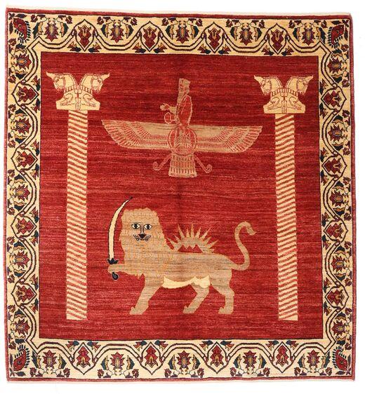 Gabbeh Kashkooli Tappeto 150X159 Moderno Fatto A Mano Quadrato Ruggine/Rosso/Marrone Chiaro (Lana, Persia/Iran)