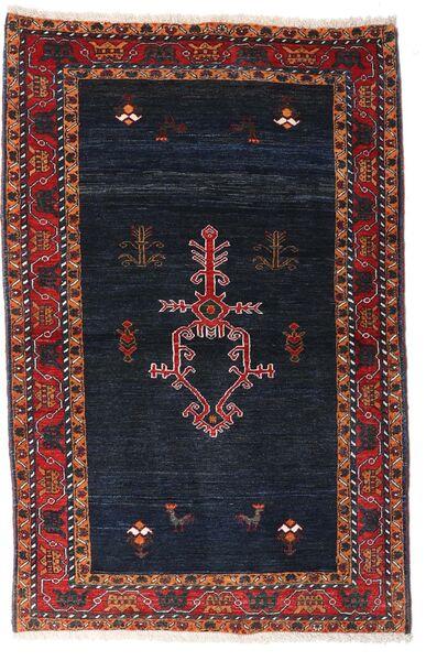 Gabbeh Kashkooli Tappeto 104X160 Moderno Fatto A Mano Nero/Rosso Scuro (Lana, Persia/Iran)