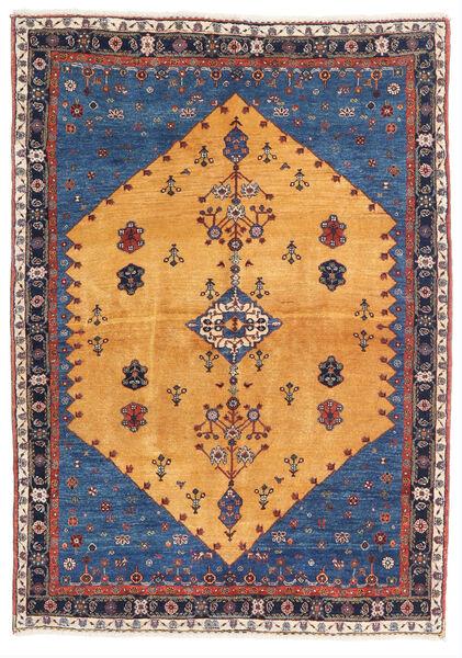 Gabbeh Kashkooli Tappeto 124X174 Moderno Fatto A Mano Marrone Chiaro/Blu Scuro (Lana, Persia/Iran)