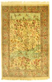 Qum Di Seta Figurale Tappeto 131X198 Orientale Fatto A Mano (Seta, Persia/Iran)