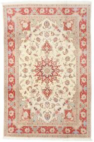 Tabriz 50 Raj Tappeto 190X293 Orientale Fatto A Mano Giallo/Beige (Lana/Seta, Persia/Iran)