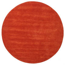 Handloom - Ruggine/Rosso Tappeto Ø 200 Moderno Rotondo Ruggine/Rosso (Lana, India)