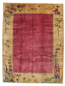 Cinesi Antichi: Art Deco 1920 Tappeto 275X360 Orientale Fatto A Mano Marrone Chiaro/Rosso/Rosso Scuro Grandi (Lana, Cina)
