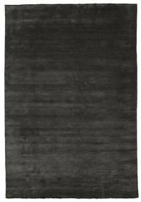 Handloom Fringes - Nero/Grigio Tappeto 220X320 Moderno Nero/Grigio Scuro (Lana, India)