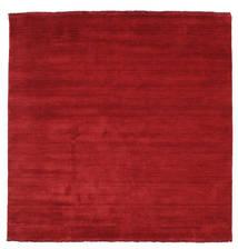 Handloom Fringes - Rosso Scuro Tappeto 200X200 Moderno Quadrato Rosso (Lana, India)