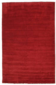 Handloom Fringes - Rosso Scuro Tappeto 200X300 Moderno Rosso (Lana, India)