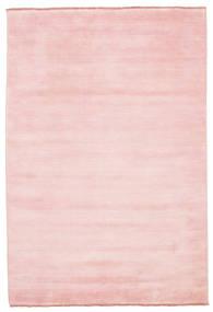 Handloom Fringes - Rosa Tappeto 160X230 Moderno Rosa Chiaro (Lana, India)