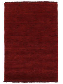 Handloom Fringes - Rosso Scuro Tappeto 140X200 Moderno Rosso (Lana, India)
