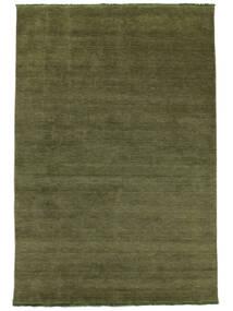 Handloom Fringes - Verde Tappeto 300X400 Moderno Verde Oliva Grandi (Lana, India)