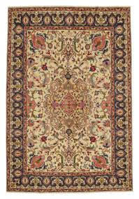Tabriz Patina Tappeto 217X328 Orientale Fatto A Mano Marrone/Beige Scuro (Lana, Persia/Iran)
