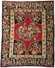 Kilim Semi-Antichi Tappeto 287X355 Orientale Tessuto A Mano Rosso Scuro/Nero Grandi (Lana, Slovenia)