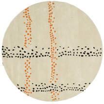 Delight Handtufted - Arancione Tappeto Ø 200 Moderno Rotondo Beige Scuro (Lana, India)