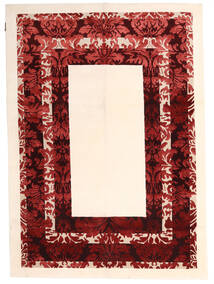 Himalaya Tappeto 150X210 Moderno Fatto A Mano Beige/Rosso Scuro ( India)