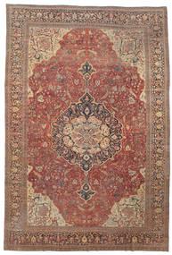 Farahan Tappeto 368X550 Orientale Fatto A Mano Rosso Scuro/Marrone Grandi (Lana, Persia/Iran)