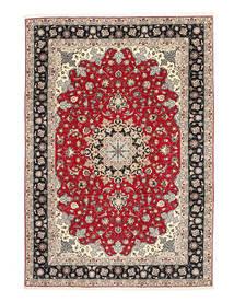 Tabriz 50 Raj Ordito In Seta Tappeto 200X310 Orientale Fatto A Mano Grigio Chiaro/Grigio Scuro (Lana/Seta, Persia/Iran)