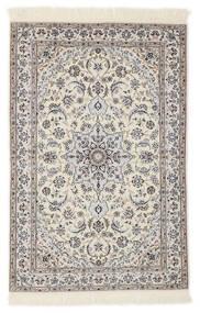 Nain 6La Tappeto 103X153 Orientale Fatto A Mano Grigio Chiaro/Beige/Bianco/Creme (Lana/Seta, Persia/Iran)