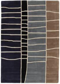 Abstract Bambù Handtufted Tappeto 160X230 Moderno Porpora Scuro/Grigio Chiaro (Lana, India)